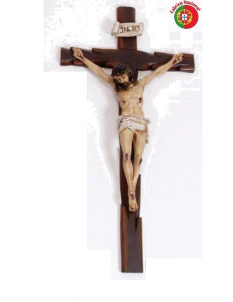 373 - Crucifixo 78x40cm c/Cristo em Resina