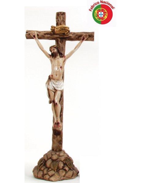 262 - Crucifixo c/base 72x31cm c/Cristo em Resina