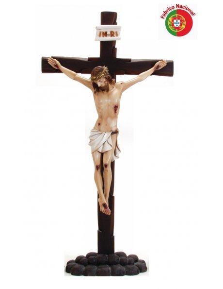 339 - Crucifixo c/base 108x56cm c/Cristo em Resina