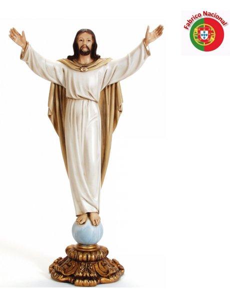 743 - Risen Christ w/Base 76x42cm  in Resine