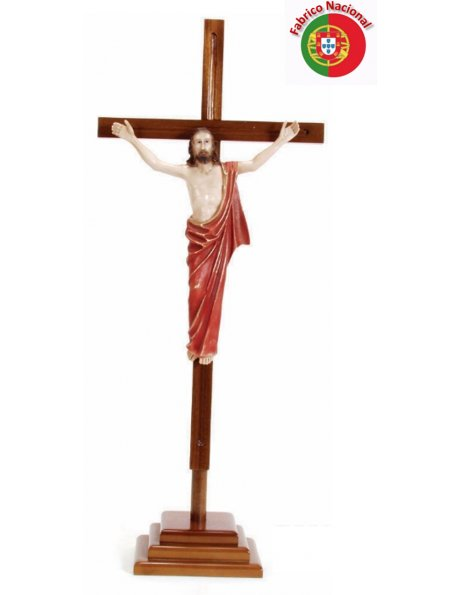 745 -  Wood Crucifix  w/Base 83,50x34cm and Christ in Resine