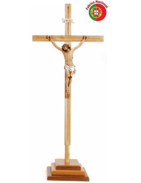 641 -  Wood Crucifix  w/Base 83,50x34cm and Christ in Resine