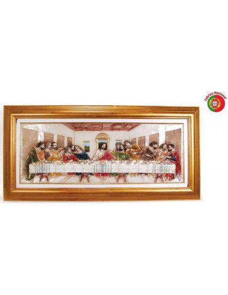 424 - Jesus Last Supper 62,50x134cm in Resine
