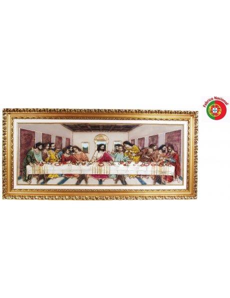 424 Trabalhada - Jesus Last Supper 62,50x134cm in Resine