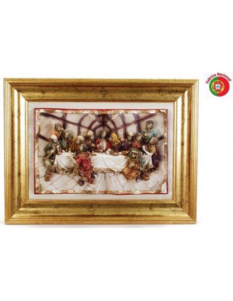 654 - Jesus Last Supper 42x57cm in Resine