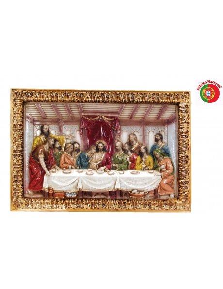 239 - Jesus Last Supper 44x65cm in Resine