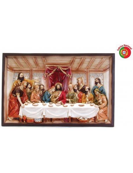 135 - Jesus Last Supper 41x62cm in Resine