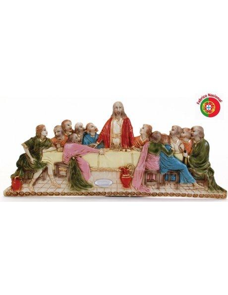 749 - Jesus Last Supper 24x53cm in Resine