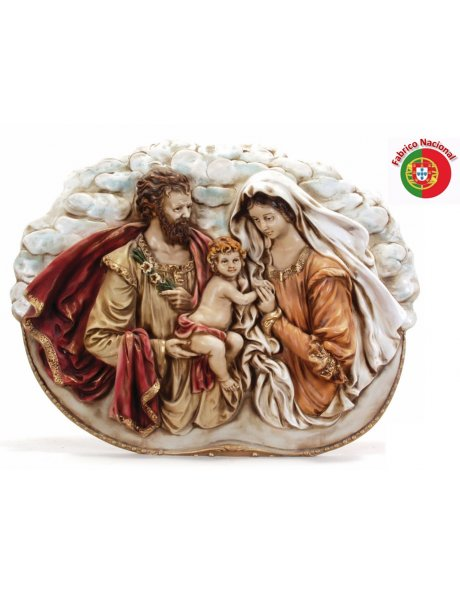 637 - Holy Family 47x37cm in resine