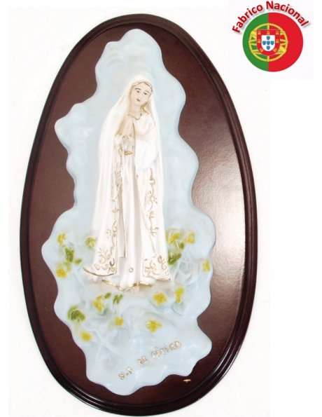 246-  Our Lady of Fatima  39x21cm in resine