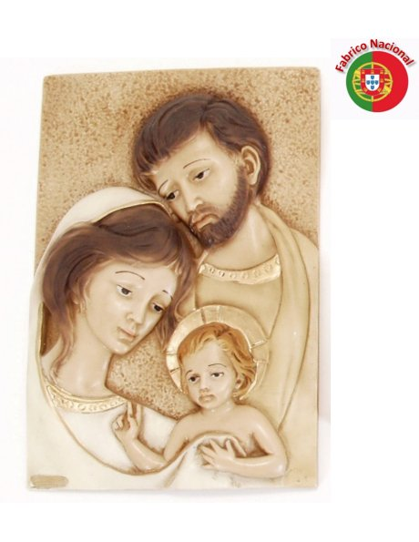 302 - Holy Family 28,50x19cm in resine