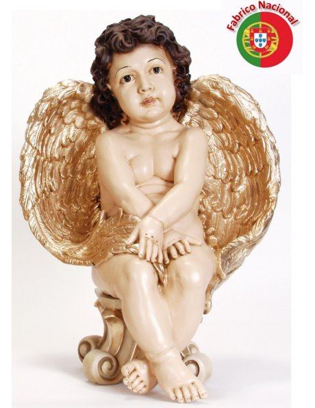 763 - Anjo da Guarda 48x34cm em Resina