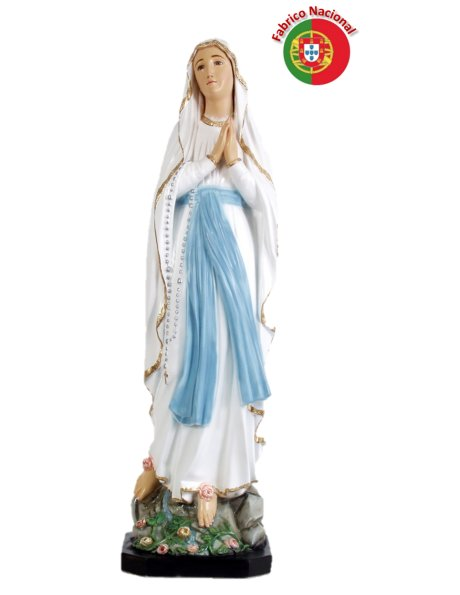 864 - Our Lady of Lourdes 102x28cm in Resin