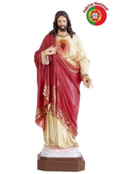 862 - S. Heart of Jesus 92x27cm in Resine