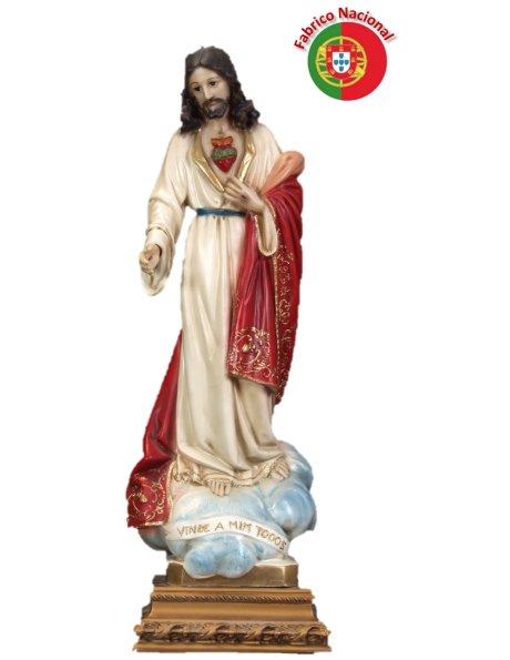 813 - S. Coeur de Jesus 52x18cm en Résine