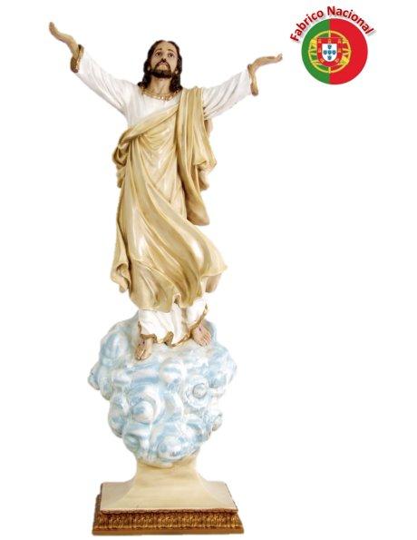 908 - Risen Christ w/Base 124X58cm in Resine