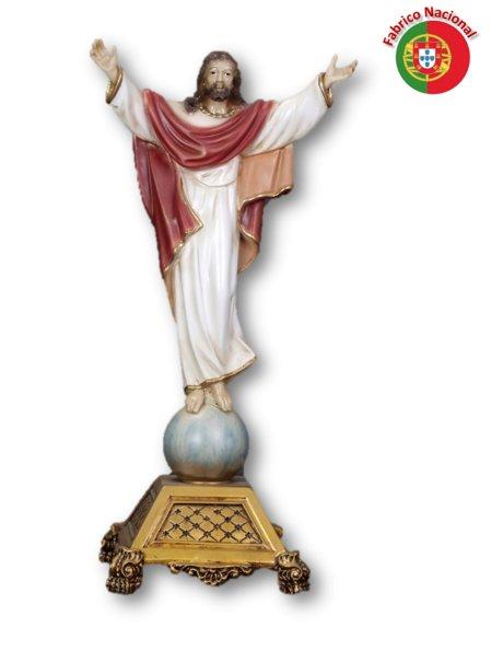 786 - Risen Christ w/Base 44x21,5cm  in Resine