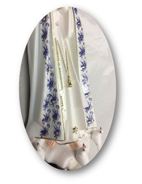 1024/F - Our Lady of Fátima w/Flowered Design 27cm