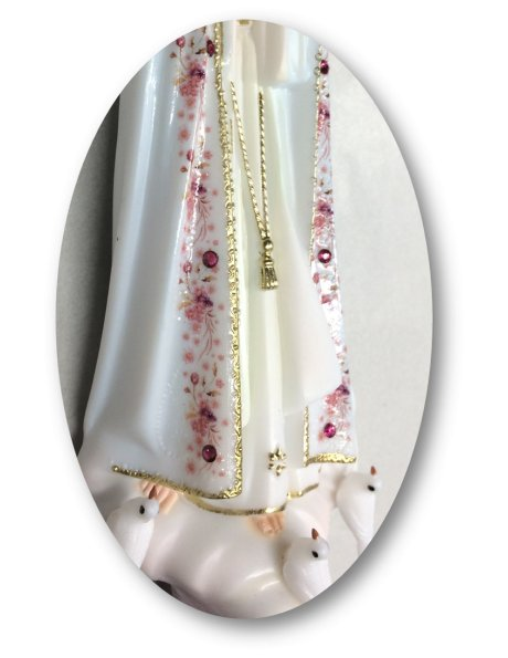 1013/F - Our Lady of Fátima w/Flowered Design 21cm