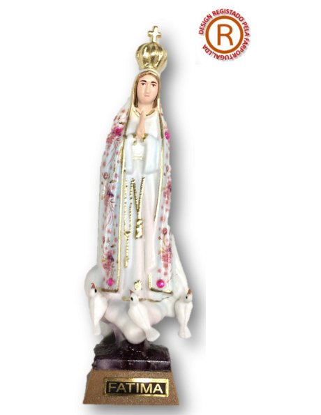 1011/F - Our Lady of Fátima w/Flowered Design 11cm