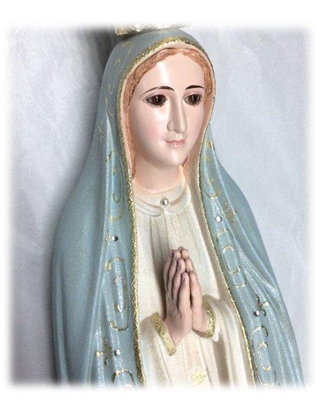 1037/G - N. D. de Fatima Granité 95cm avec Yeux en Cristal