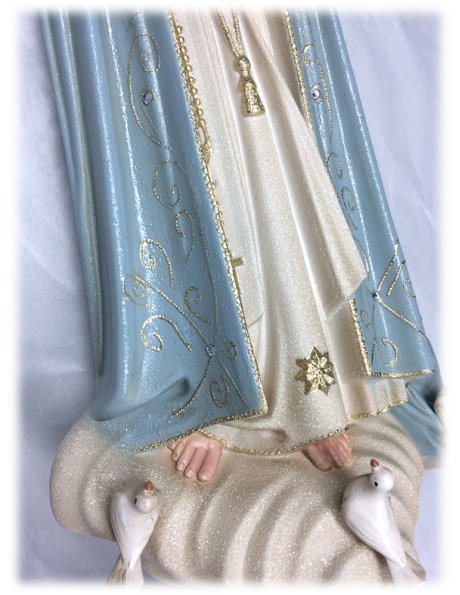 1036/G - Our Lady of Fátima Granited 55cm with Crystal eyes