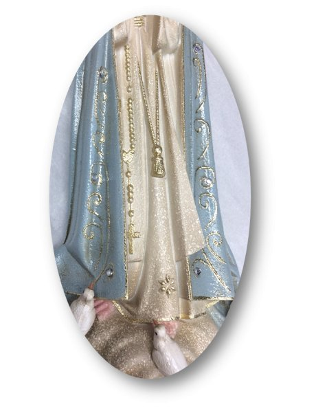 1023/G - Our Lady of Fátima Granited 35cm with Crystal eyes