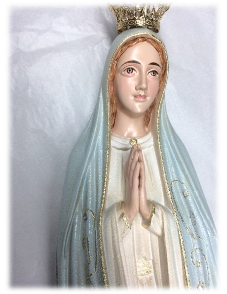 1042/G - Our Lady of Fátima Granited 55cm with Painted eyes