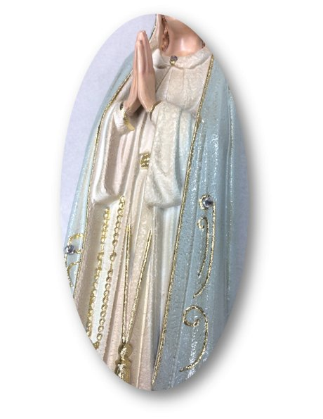 1040/G - Our Lady of Fátima Granited 34cm with Painted eyes