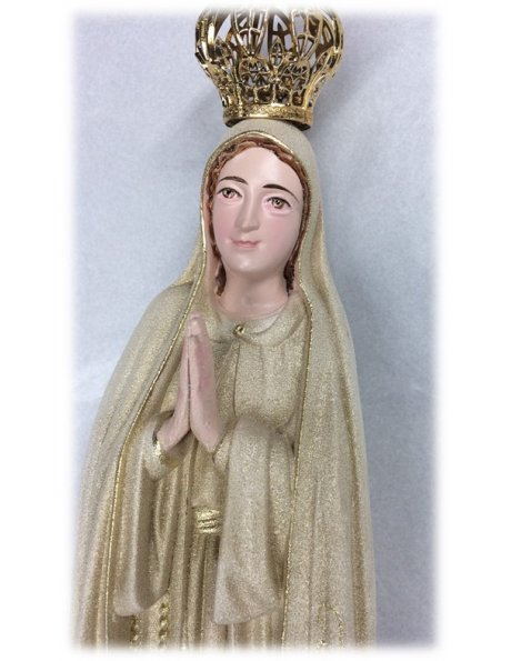1040/GD - Our Lady of Fátima Golden Granited 35cm