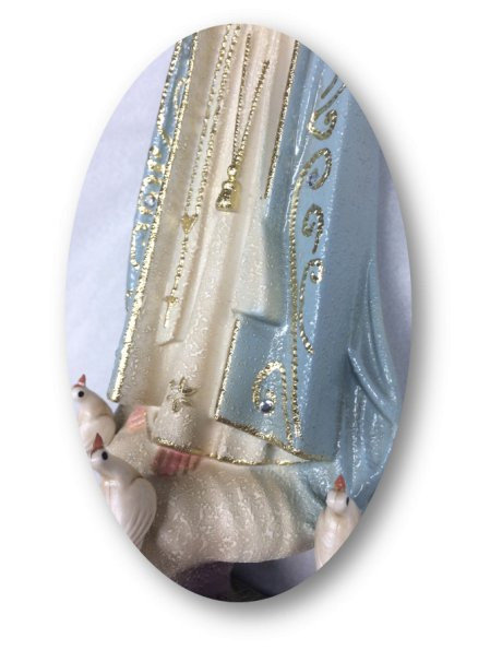 1024/G - Our Lady of Fátima Granited 27cm with Painted eyes