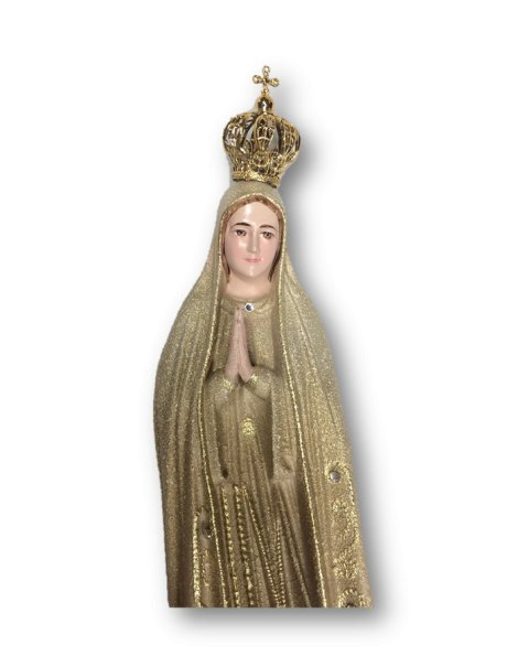 1024/GD - Our Lady of Fátima Golden Granited 27cm