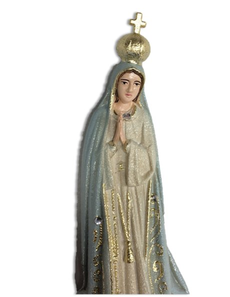 1012/G - Our Lady of Fátima Granited 17cm with Painted eyes
