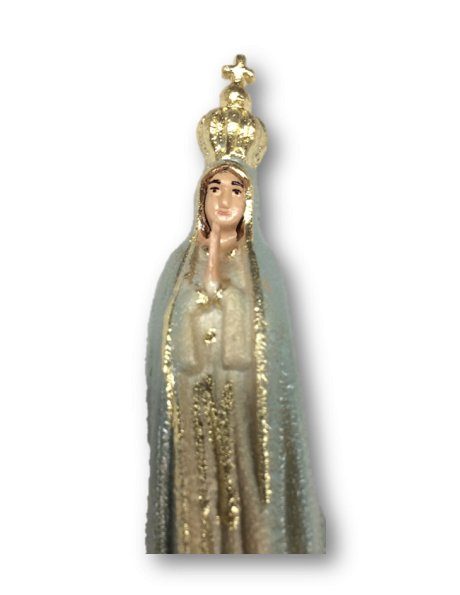 1010/G - Our Lady of Fátima Granited 9cm with Painted eyes