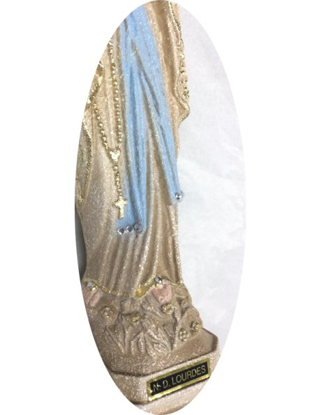 1191/G - Our Lady of Lourdes Granited 23cm with Painted eyes