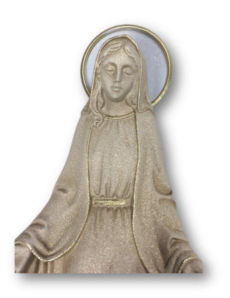 Vierge Miraculeuse Granité et Doré 29cm