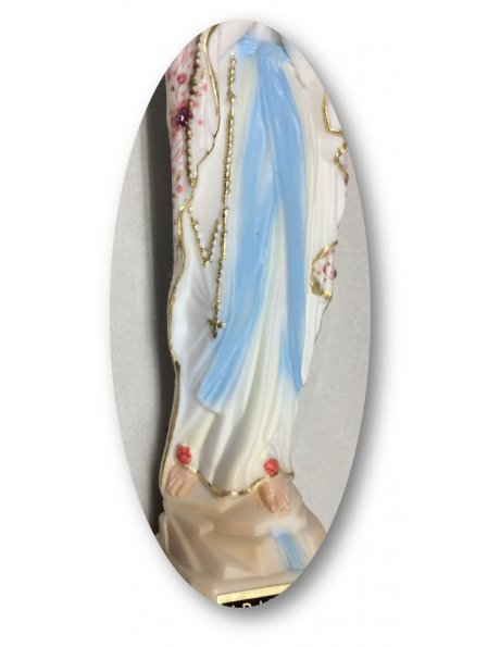 1188/F - Our Lady of Lourdes w/Flowered Design 18cm