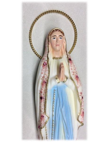 1191/F - Our Lady of Lourdes w/Flowered Design 23cm