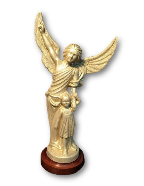 1196/GD - Guardian Angel Golden Granited 25cm