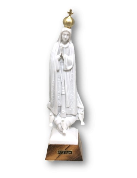 1012/W - Our Lady of Fátima 17cm White