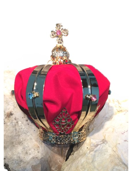 X/50V - Metal Crown w/5cm Diameter w/Red Tissue