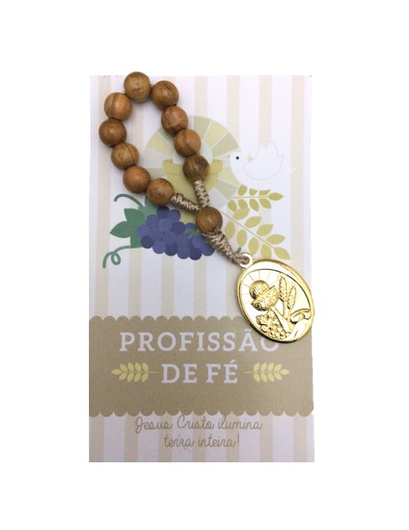 1967/8C - Small Olive Wood Communion Rosary 8mm