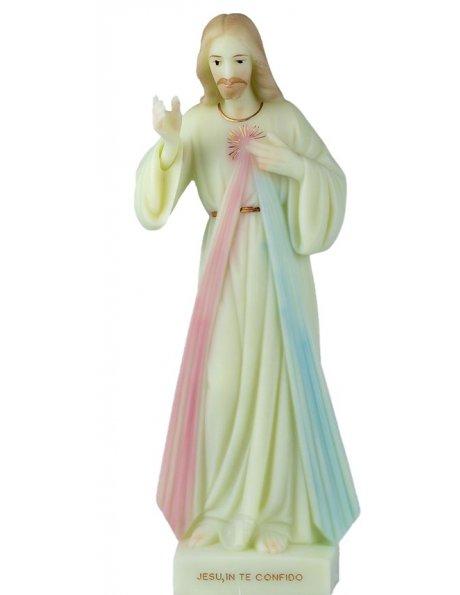 Cristo Misericordioso Luminoso 35cm c/Olhos Pintados