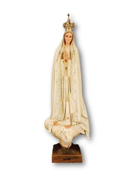 Our Lady of Fátima Old Painting 70cm with Crystal eyes