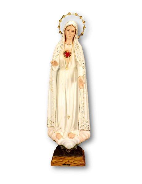 Sagrado Coração de Maria Pintado 83cm c/Olhos em Cristal