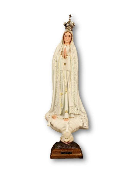 Our Lady of Fátima 44cm with Crystal Eyes and Gloss