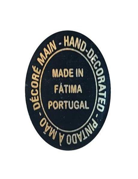 N. D. de Fatima a/Design Fleurie et Peinture Vieilli 44cm avec Yeux en Cristal, sans pigeon