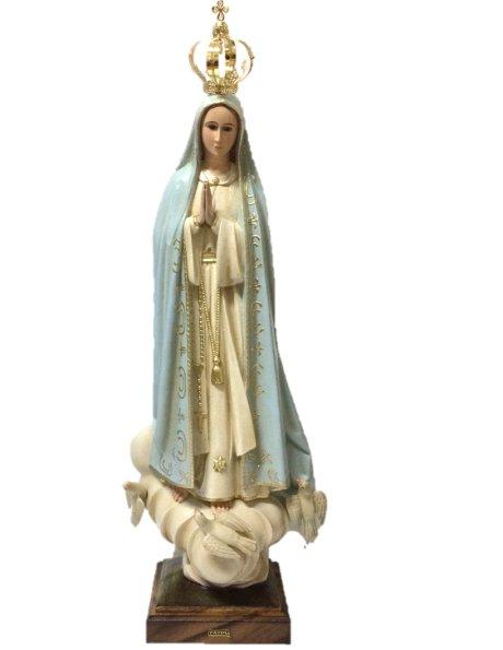 1039/PG - N. D. de Fatima Granité 95cm avec Yeux en Cristal